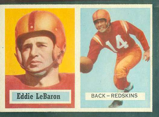 1957 Topps FB #..1 Eddie Lebaron (Redskins) (Redskins) Football cards value