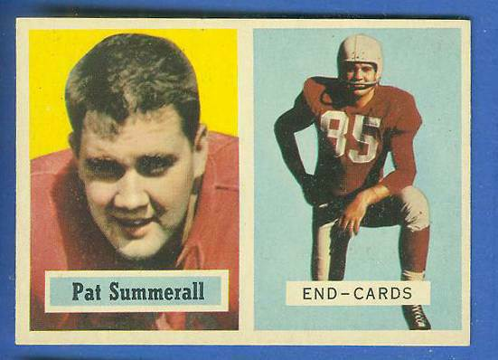 1957 Topps FB #.14 Pat Summerall [#a] (Chicago Cardinals) Football cards value