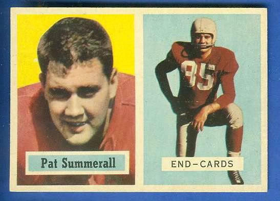 1957 Topps FB #.14 Pat Summerall [#b] (Chicago Cardinals) Football cards value