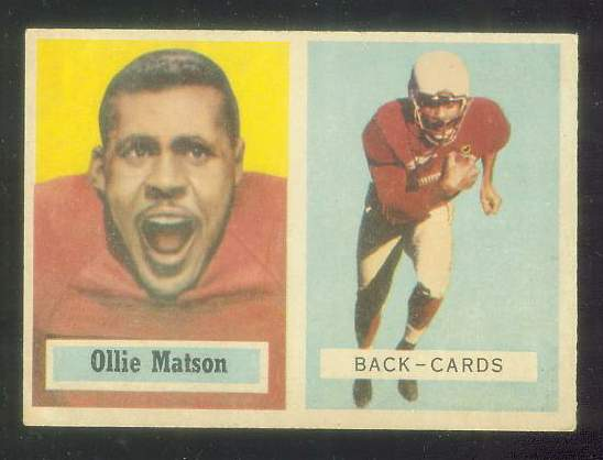 1957 Topps FB #.26 Ollie Matson [#b] (Chicago Cardinals) Football cards value