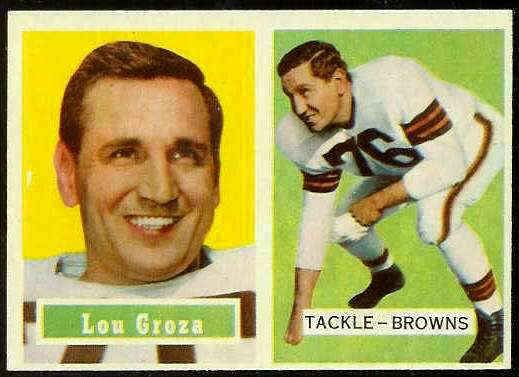 1957 Topps FB #.28 Lou Groza [#a] (Browns) Football cards value