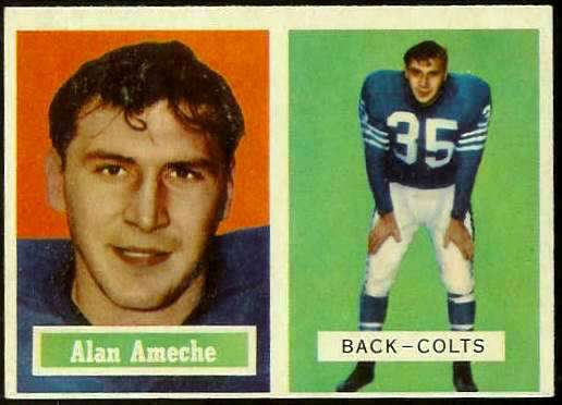 1957 Topps FB #.53 Alan Ameche (Colts) Football cards value