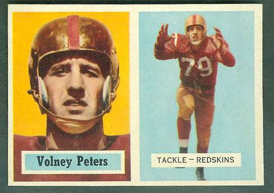 1957 Topps FB #.84 Volney Peters [#a] (Redskins) Football cards value