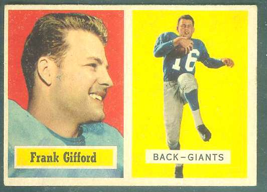 1957 Topps FB #.88 Frank Gifford [#c] (NY Giants) Football cards value