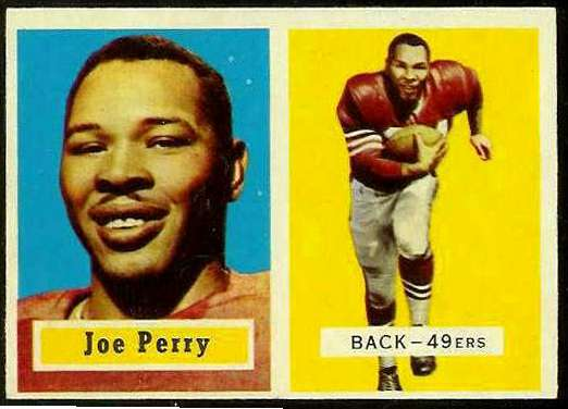 1957 Topps FB #129 Joe Perry [#a] (49ers) Football cards value