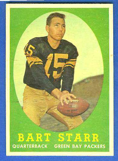 1958 Topps FB #.66 Bart Starr [#a] (Packers Hall-of-Famer) Football cards value