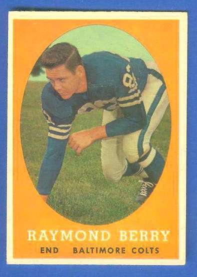 1958 Topps FB #120 Raymond Berry [#a] (Colts Hall-of-Famer) Football cards value