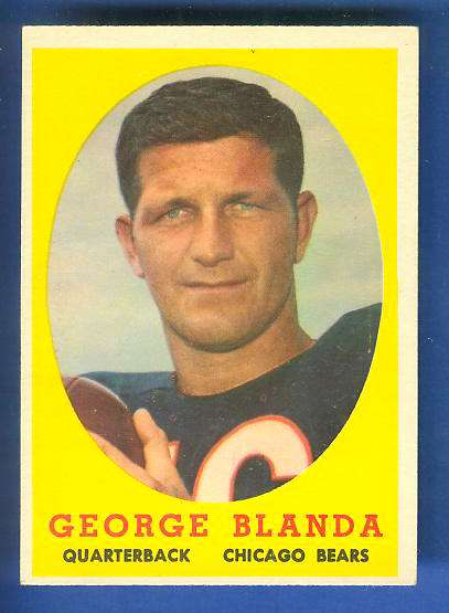 1958 Topps FB #129 George Blanda [#a] (Bears Hall-of-Famer) Football cards value
