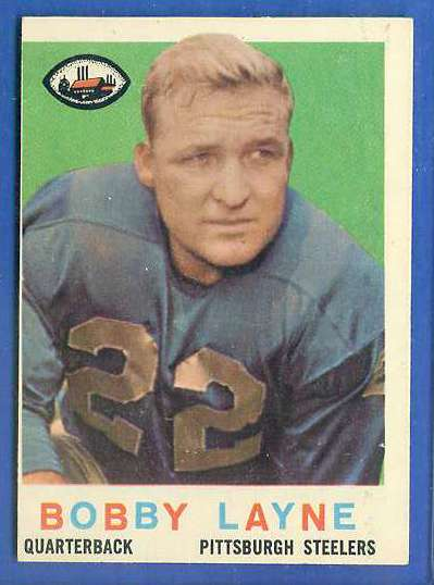 1959 Topps FB #.40 Bobby Layne Football cards value
