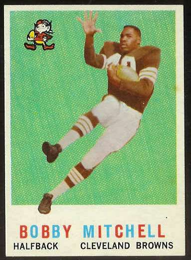 1959 Topps FB #140 Bobby Mitchell [#a] ROOKIE (Cleveland Browns) Football cards value