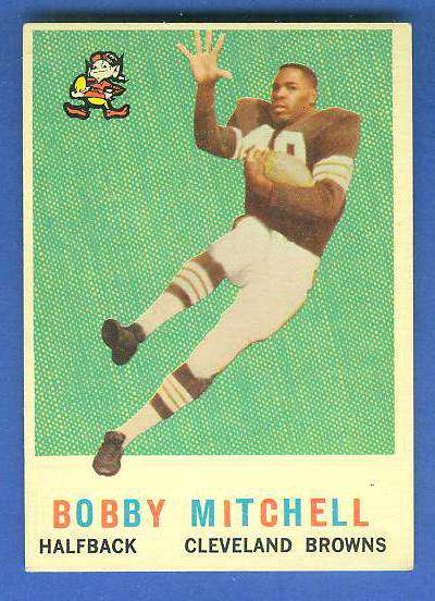 1959 Topps FB #140 Bobby Mitchell [#b] ROOKIE (Cleveland Browns) Football cards value