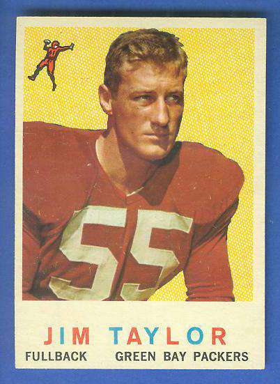 1959 Topps FB #155 Jim Taylor ROOKIE [#b] (Packers) Football cards value