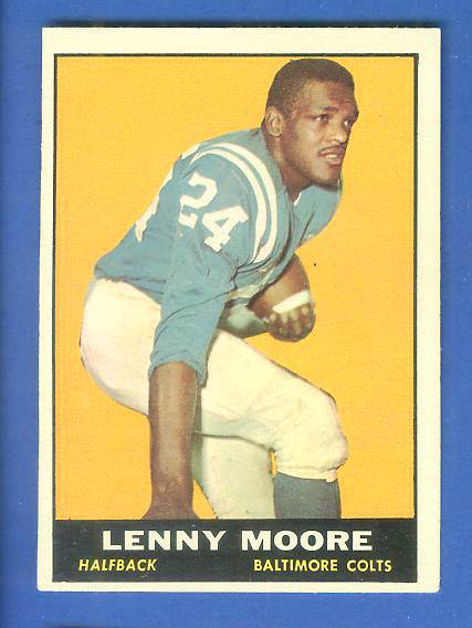 1961 Topps FB #  2 Lenny Moore [#b] (Colts) Football cards value