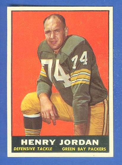 1961 Topps FB #.45 Henry Jordan ROOKIE (Packers) Football cards value