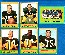 1963 Topps FB  - Green Bay PACKERS - Lot (6) diff. w/BART STARR