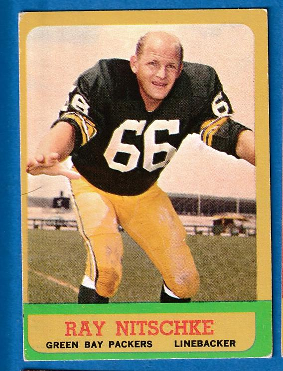 1963 Topps FB # 96 Ray Nitschke ROOKIE [#r] (Packers) Football cards value
