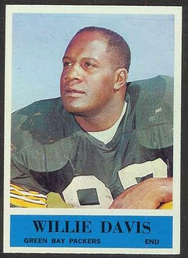 1964 Philadelphia FB #.72 Willie Davis ROOKIE (Packers) Football cards value