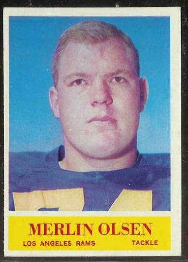 1964 Philadelphia FB #.91 Merlin Olsen ROOKIE [#b] (Rams) Football cards value
