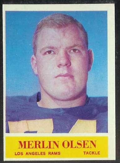 1964 Philadelphia FB #.91 Merlin Olsen ROOKIE [#c] (Rams) Football cards value