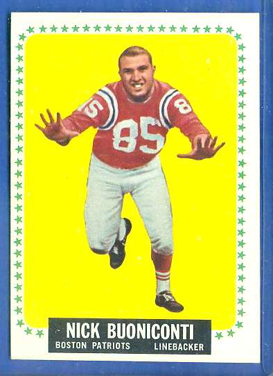 1964 Topps FB #..3 Nick Buoniconti (Patriots) Football cards value