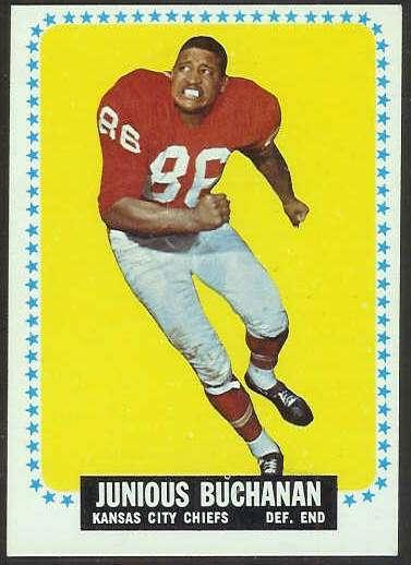 1964 Topps FB #.92 Buck Buchanan ROOKIE [#a] (Chiefs) Football cards value