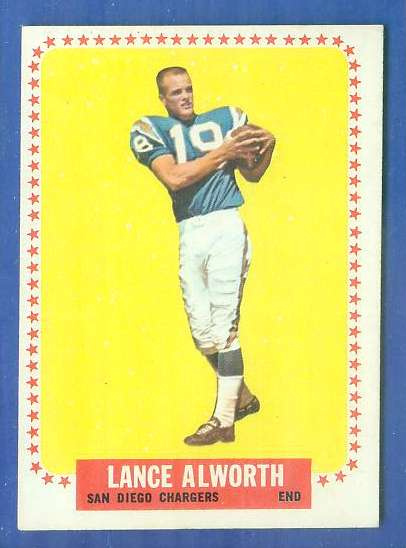1964 Topps FB #155 Lance Alworth [#a] (Chargers) Football cards value