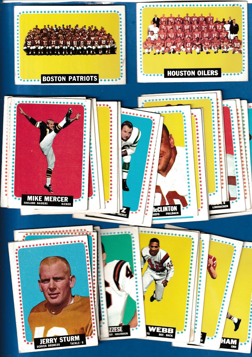 1964 Topps FB  - Starter Set/Lot (67) different with STARS & SHORT PRINTS Football cards value