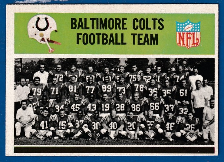 1965 Philadelphia FB #  1 Baltimore Colts Team card