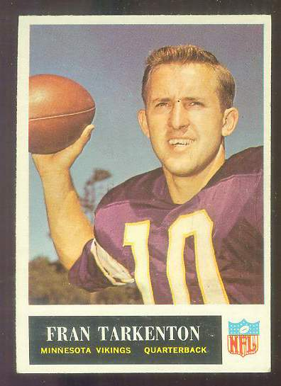 1965 Philadelphia FB #110 Fran Tarkenton [#b] (Vikings) Football cards value