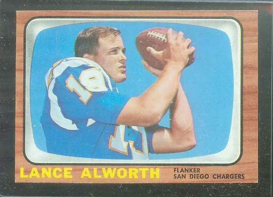 1966 Topps FB #119 Lance Alworth [#a] (Chargers) Football cards value