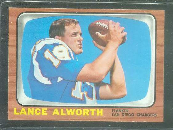 1966 Topps FB #119 Lance Alworth [#b] (Chargers) Football cards value