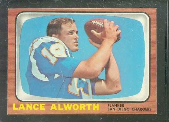 1966 Topps FB #119 Lance Alworth [#c] (Chargers) Football cards value