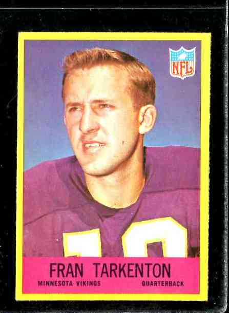 1967 Philadelphia FB #106 Fran Tarkenton Football cards value