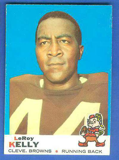 1969 Topps FB #  1 Leroy Kelly (Browns,Hall-of-Fame) Football cards value