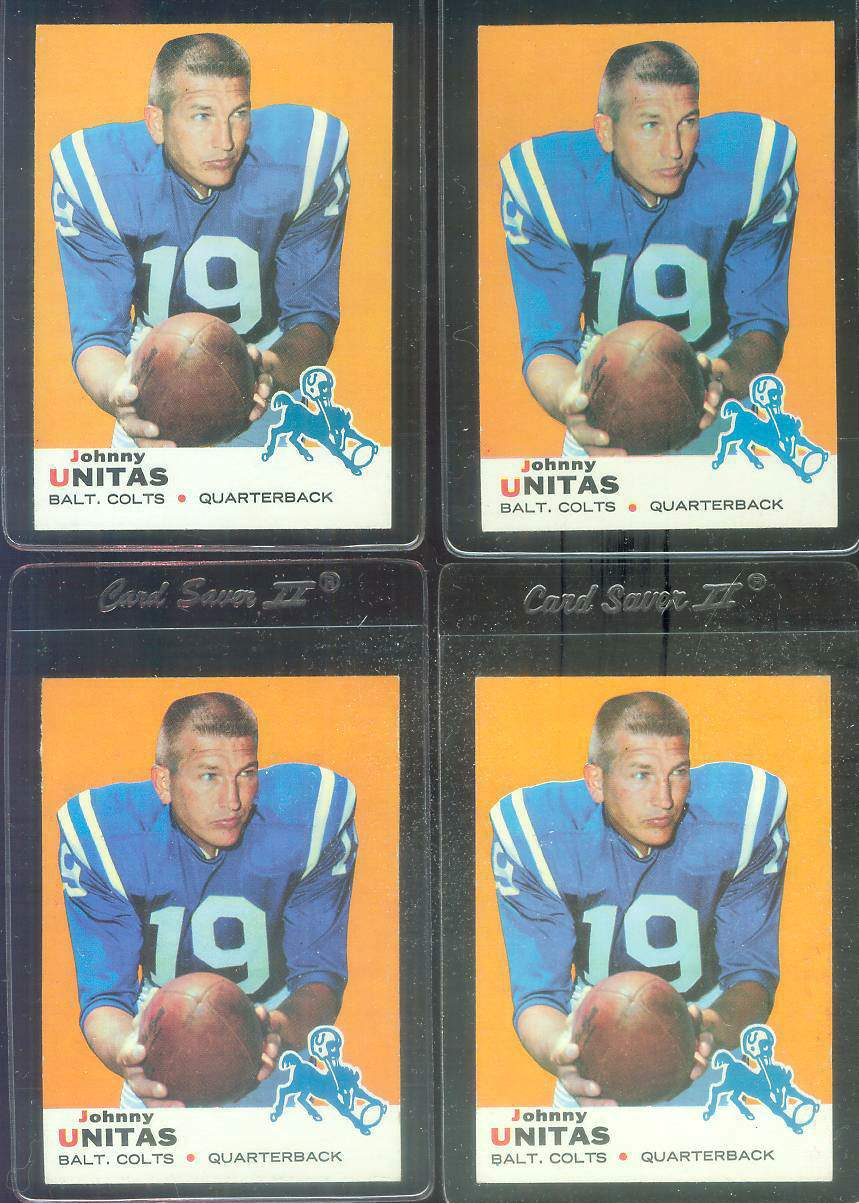 1969 Topps FB #.25 Johnny Unitas [#a] (Colts) Football cards value
