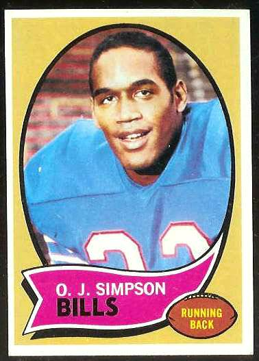 1970 Topps FB #.90 O.J. Simpson ROOKIE [#a] (Bills) Football cards value