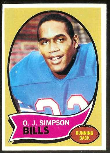 1970 Topps FB #.90 O.J. Simpson ROOKIE [#b] (Bills) Football cards value
