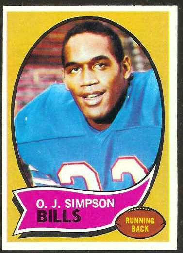 1970 Topps FB #.90 O.J. Simpson ROOKIE [#c] (Bills) Football cards value