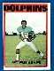 1972 Topps FB #167 Paul Warfield (Dolphins)