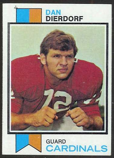 1973 Topps FB #322 Dan Dierdorf ROOKIE [#b] Football cards value