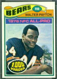 1977 Topps FB #360 Walter Payton (Bears) Football cards value