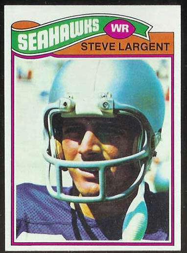 1977 Topps FB #177 Steve Largent ROOKIE [#a] Football cards value
