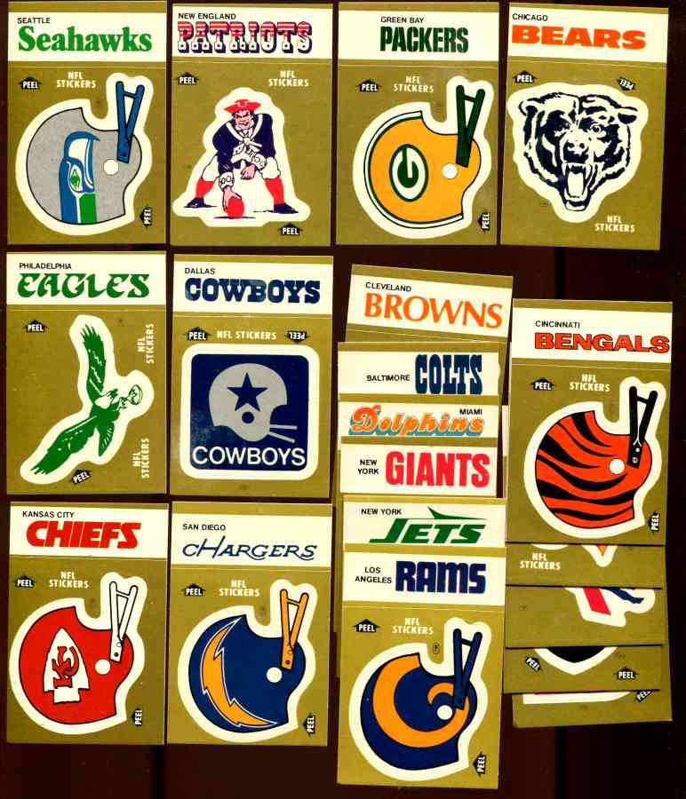 1983 Fleer NFL Team SCHEDULE Card/Stickers  - NEAR SET/LOT (42) different Football cards value