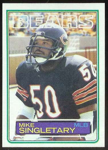 1983 Topps FB #.38 Mike Singletary ROOKIE Football cards value