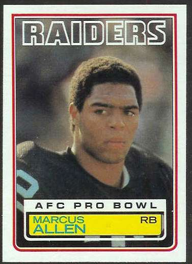 1983 Topps FB #294 Marcus Allen ROOKIE [#a] Football cards value