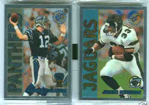 1995 Topps Stadium Club CHROME - JAGUARS INAUGURAL Limited Edition Team Se Football cards value