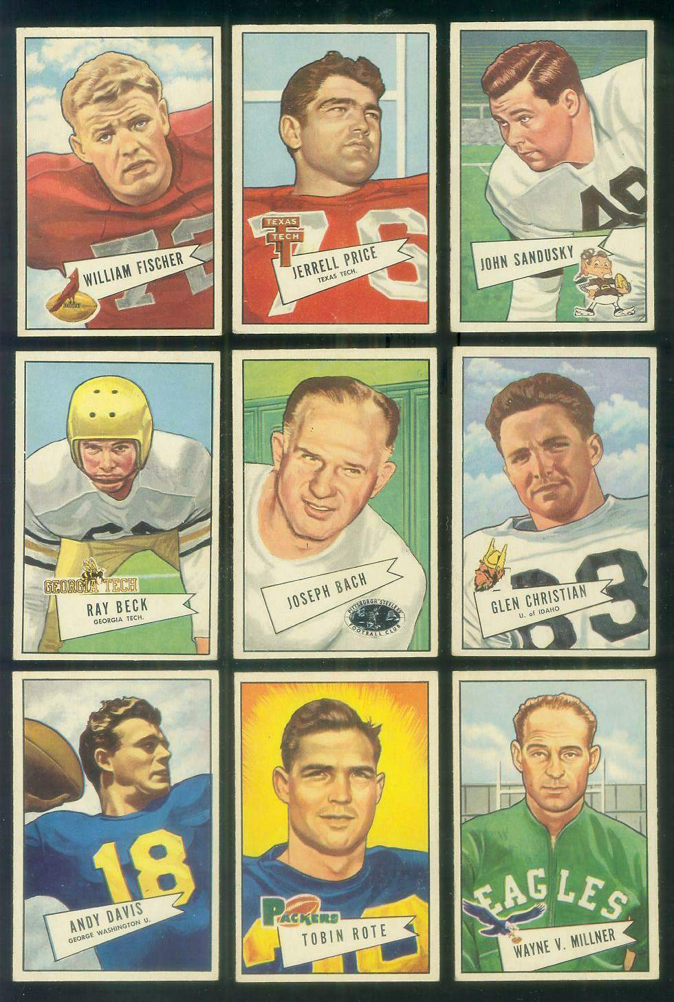 1952 Bowman Small FB #.53 Joe Bach COACH (Steelers) Football cards value