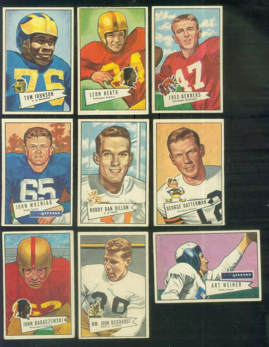 1952 Bowman Small FB #.98 Bobby Dillon ROOKIE (Packers) Football cards value