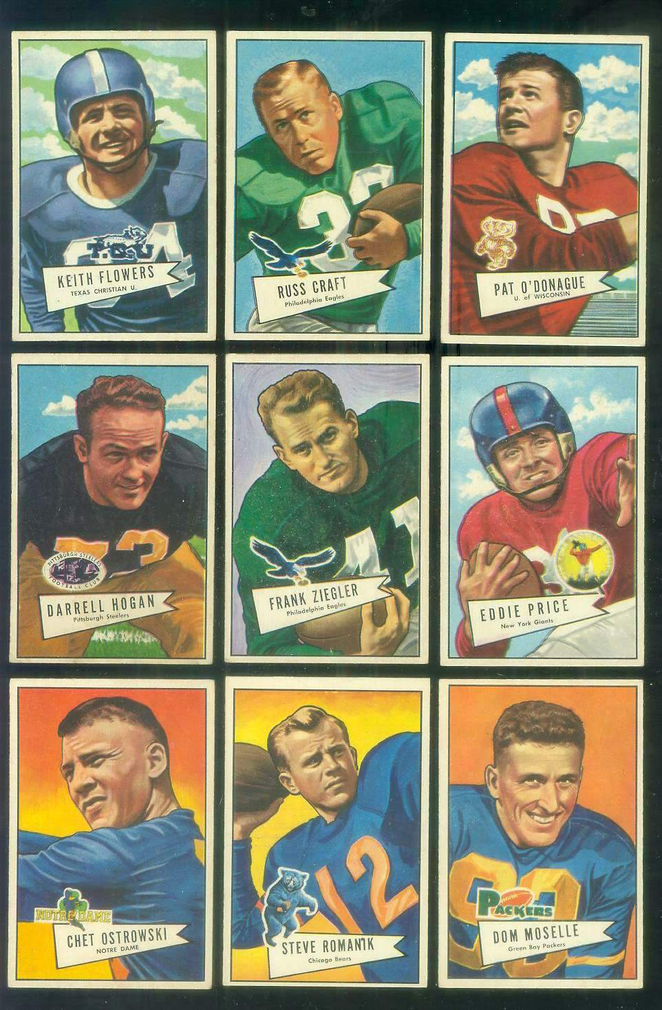 1952 Bowman Small FB #117 Jim O'Donahue ROOKIE (49ers) Football cards value