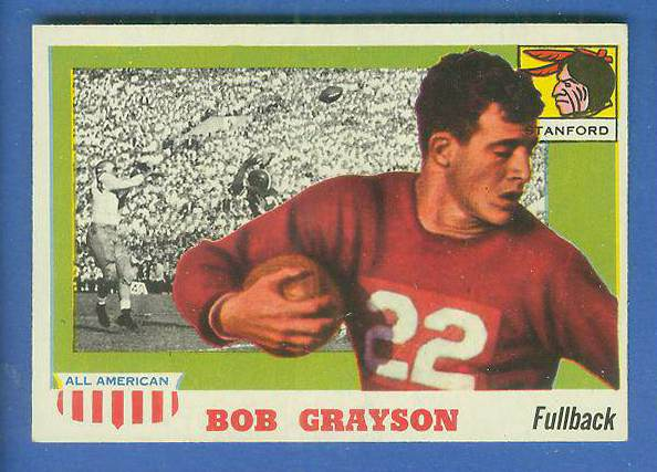 1955 Topps ALL-AMERICAN FB #..5 Bobby Grayson (STANFORD) Football cards value